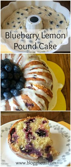 Blueberry-Lemon Pound Cake recipe