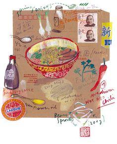 Poster pour la cuisine - La soupe chinoise épicée - Edition limitée - Tirage numéroté et signé
