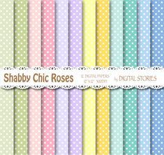 Shabby Chic Digital Paper SHABBY CHIC DOTS by DigitalStories, €2.80