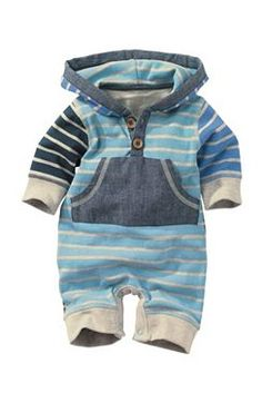 Newborn Tops - Baby boy Tops and Infantwear - Next Stripe Romper Baby Outfits, Outfits Niños, Baby Dresses, Baby Boy Fashion, Fashion Kids, Fashion Clothes, Style Clothes, Newborn Fashion, Fashion Shirts