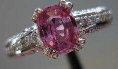 Pink sapphire antique cushion cut