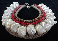 Bohemian turbo shell  Necklace Women Fashion Home by ubudexotica