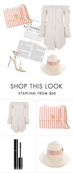 """""""Untitled #24"""" by tatuli-togoxia ❤ liked on Polyvore featuring Topshop, Chanel, Gucci and Gianvito Rossi"""