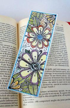 Original Zendoodle - Zentangle Art Bookmark, Laminated. AND MANY MORE PATTERNS!!