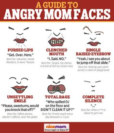 Which of These Angry Mom Faces Works Best For You?   More LOLs & Funny Stuff for Moms   NickMom
