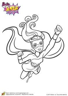 dessin de super princesse barbie entrain de voler