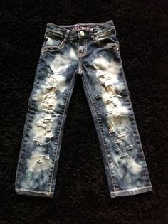 Girls jeans by DestroyedBySnow on Etsy