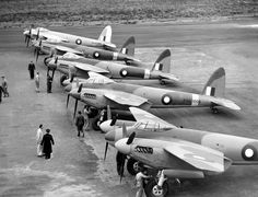 Nice line up of mossie's Navy Aircraft, Ww2 Aircraft, Military Aircraft, Royal Australian Navy, Royal Australian Air Force, De Havilland Mosquito, Flying Dutchman, Aviation Image, Ww2 Planes