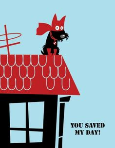 Hero Scottie Postcard Scottish terrier
