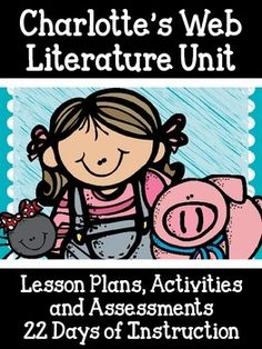 Are you looking for a complete unit to use with the text Charlotte's Web by E.B. White? Then this is the bundle for you. This is a complete unit that contains the following:22 Days (or more depending on students) of lesson plans. These plans tell you which vocabulary words to use, which chapters to read, and which handouts/writing prompts to use as well.-Graphic Organizers for multiple skills including sequencing, cause and effect, character analysis, and more.-Journal Response Prompts-Pages…