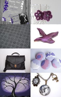 Purple and grey weekend by Tronell on Etsy--Pinned with TreasuryPin.com