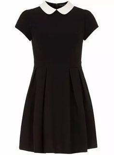 Black/white collar dress - New In Clothing - What's New Kohls Dresses, Trendy Dresses, Cute Dresses, Fashion Dresses, Short Sleeve Dresses, Skater Dresses, Dresses Dresses, Peter Pan Dress, Peter Pan Collar Dress