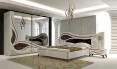 For the clean and seamless vibe that this light coloured wardrobe gives the small bedroom. Bedroom Cupboard Designs, Wardrobe Design Bedroom, Bedroom Cupboards, Bedroom Bed Design, Bedroom Furniture Design, Modern Bedroom Design, Bed Furniture, Bedroom Sets, Wardrobe Bed