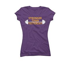 Stronger Than Yesterday Women's Medium Purple Graphic T Shirt - Design By Humans Design By Humans http://www.amazon.com/dp/B00L1F010C/ref=cm_sw_r_pi_dp_E7V3tb1T7X1GE42J