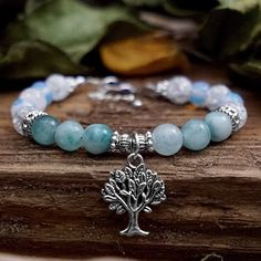Jade Tree Charm Bracelet by NouveauYourself on Etsy