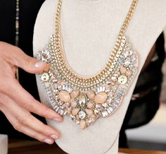 If you're looking for something extra special...how about the limited edition Giverny Embroidered necklace!?  Feminine genuine leather bib with soft blush tones and sparkle suspends from vintage gold chain. A truly unique artisan style to treasure for years to come. Looks stunning with dresses but don't be afraid to pair it with casual shirt.