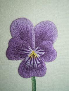 Threads Across the Web: Purple Pansy