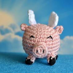 Flying Pig Crochet Pattern - Pops de Milk, crochet, free pattern, amigurumi, haken, gratis patroon (Engels), vliegend varken