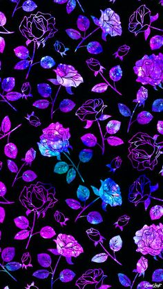 purple flowers wallpaper Flowers ▷ 1001 + flower drawing to learn how to tattoo . Witchy Wallpaper, Neon Wallpaper, Iphone Background Wallpaper, Glitter Wallpaper, Cellphone Wallpaper, Aesthetic Iphone Wallpaper, Flower Wallpaper, Aesthetic Wallpapers, Purple Flowers Wallpaper