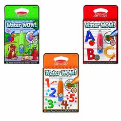 Melissa & Doug Water Wow Bundle Animals, Alphabet and Numbers Paint Kit