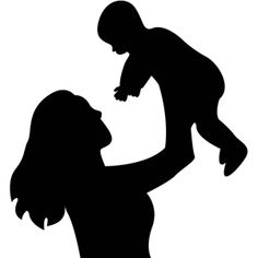 Silhouette Design Store - View Design #13787: mother and child silhouette