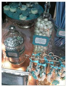 Tiffany Themed Candy and Dessert Table: Part 2
