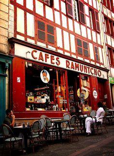 Bayonne, Café Ramuntcho, France