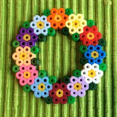 Flower wreath hama beads by petrawettero