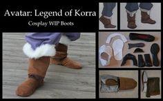 Avatar: Legend of Korra Boot Tutorial pt. 1 by ~LookyLolo on deviantART Mai Cosplay, Avatar Cosplay, Cosplay Diy, Cosplay Ideas, Diy Costumes, Cosplay Costumes, Costume Ideas, Halloween 2020, Halloween Ideas