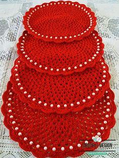 Crochet Table Runner, Crochet Tablecloth, Crochet Doilies, Crochet Edging Patterns, Christmas Crochet Patterns, Crochet Cord, Crochet Crafts, Knitting, Decoration
