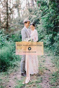 Rustic Blush Wedding Ideas
