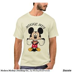 Customizable T-Shirt made by Zazzle Apparel. Personalize it with photos & text or shop existing designs! Disney Theme, Mickey Mouse, Fitness Models, Stitch, Casual, Modern, Fabric, Mens Tops, T Shirt