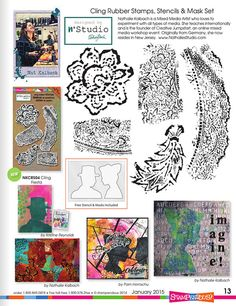 New n*Studio Fiesta Stamp set with Masks and Stencil @stampendous