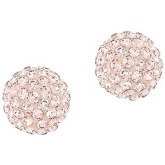 Swarovski Blow Rose Goldtone Stud Earrings (115 BAM) ❤ liked on Polyvore featuring jewelry, earrings, gold, swarovski crystal jewelry, gold cluster earrings, swarovski jewelry, gold jewelry and swarovski crystal earrings