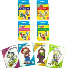 4 Classic Childrens Card Games Crazy Go Fish Monster Match Old Maid Kids Gift Monster Games, Boyfriend Crafts, Going Fishing, Matching Games, 4 Year Olds, Kids Cards, Betta, Games For Kids, Cool Toys