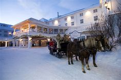 Transfer from the train station to the historic Dr Holm's hotel at Geilo. Description from fjordtravel.no. I searched for this on bing.com/images
