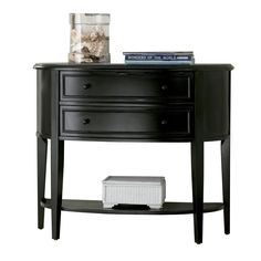 Shop Powell Antique Black Half Round Console And Sofa Table At Lowes.com  (wants: Expresso, Storage, Bottom Shelf, Scratch Resistant Top, Decent  Size, ...