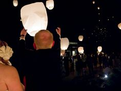 Our awesome wish lanterns.  So want to do this again!