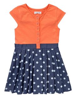 5c71ce9d00ee Ladybird Toddler Girls Denim Jersey Dress