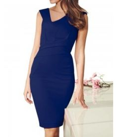 Blue Aster Fitted Dress : $33.00 Unlock the secret of ultimate comfort wearing this royal blue color dress. Crafted of stretch fabric, promises to keep you comfortable throughout the event. This sexy dress can be teamed with matching sandals and a clutch.