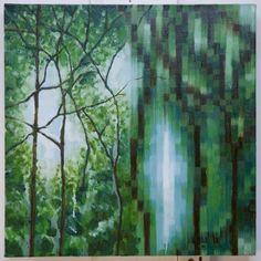 "Saatchi Online Artist: Mauricio Villamil; Oil, 2011, Painting ""PixelLandscape"""