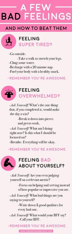 A few bad feelings-- and how to beat them. Use this positive thinking chart for a boost of positivity whenever you're having a bad day at work! | All About Perspective: A Cynic's Guide to Thinking Positively by blogger Stephanie Ziajka from Diary of a Debutante