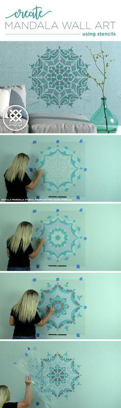 Cutting Edge Stencils shares how to paint wall art using the Estella Mandala Stencil. http://www.cuttingedgestencils.com/estella-mandala-stencil-wall-stencils-designs.html