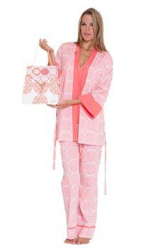 473588186f7 Olian Anne 5 Piece Mom And Baby Maternity Nursing Pajama Gift Set -  Medallion Print