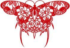 A Beautiful Butterfly Paper-cut Design Vector Material Paper Cutting Patterns, Paper Cutting Templates, Paper Butterflies, Beautiful Butterflies, Chinese Butterfly, Chinese Paper Cutting, Cut Out Art, Paper Cut Design, Vinyl Paper