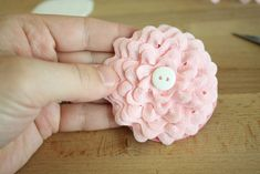 craftiness is not optional: ric rac flower tutorial