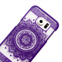 Purple Aztec Mandala Samsung Phone Case
