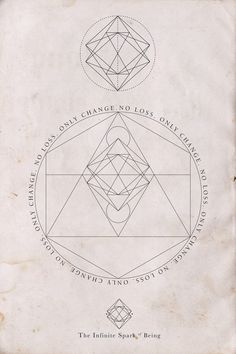 """Only Change, No Loss,"" Geometric graphic ad for TheInfiniteSparkofBeing Geometric Patterns, Geometric Shapes, Geometric Graphic, Vegvisir, Art Graphique, Grafik Design, Glyphs, Sacred Geometry, Alchemy"