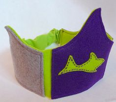 New in the shop! Purple and Lime Sharkbite crown. More coming!!
