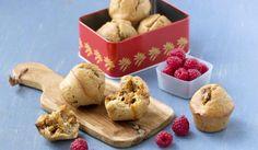 Grove muffins med brunost - oppskrift - Opplysningskontoret for brød og korn No Knead Bread, Korn, Kefir, Baguette, Muffins, Stuffed Mushrooms, Pudding, Cheese, Vegetables